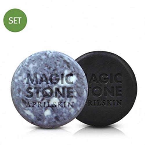 April-Skin-Magic-Stone-Soap-Black-Original-2pcs-Set-Cleansing-Soap-100-Natural