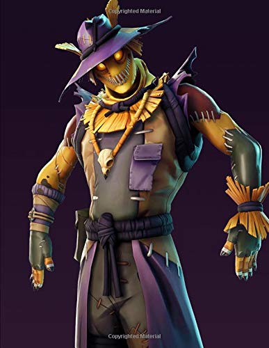 Amazon Com Fortnite Scary Scarecrow Guitar Tab Notebook With 6