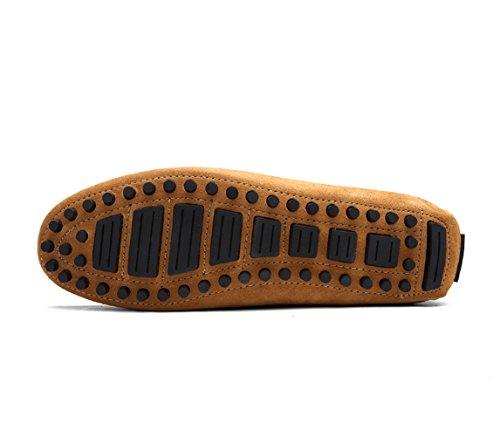 Auto Slip on Eisgrau Business Brown Männer Schuhe 41 der Mokassin Schuhe Schuhe 8Hgw7xq7n
