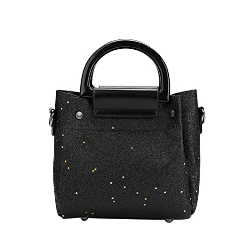 Black Shoulder Bag Purse Crossbody Case Sequins Strap Handbag with Shoulder Phone Cell Bag Wallet FqOcw