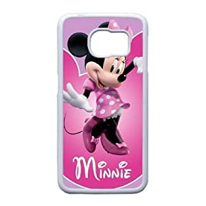Samsung Galaxy S6 Edge case , Minnie Mouse Cell phone case White for Samsung Galaxy S6 Edge - LLKK0721458