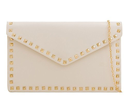 Bag Diva Clutch Black For Studded Women Beige Haute Envelope Yp1Zxp