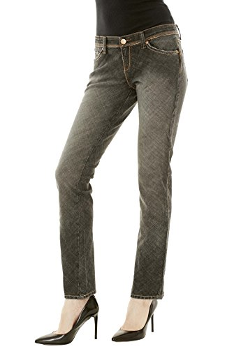 Star Flare Jean - Blue Star Women's Skinny Straight Cut Black Jeans - Distressed Stretch, Mid Rise, Fitted Cut Black Size 30