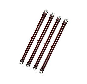 Cuatro unidades 500 Watt Heatmaster Ruby U3 calefactor halógeno bombilla