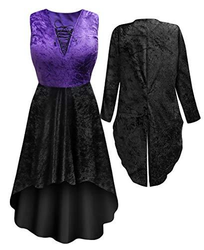 Saloon Dancer Plus Size Supersize Halloween Costume Dress and Jacket XL -