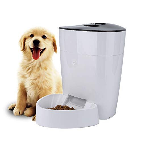 FULLOSUN Automatic Pet Feeder for Dogs, Cats & Pets, Food Dispenser – 4L Capacity- Portion Control – Programmable Timer…