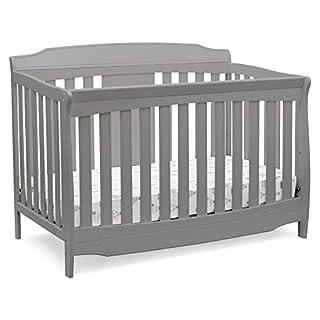 Delta Children Westminster 6-in-1 Convertible Baby Crib, Grey