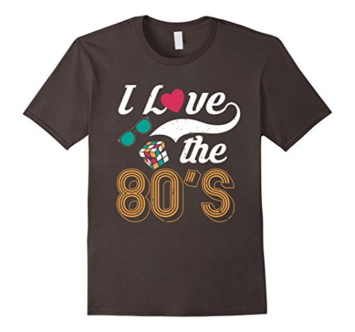[Men's I Love The 80s Shirt Eighties T-Shirt for Men and Women XL Asphalt] (Female Pop Culture Costumes)