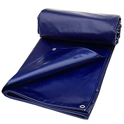 どこにでも肩をすくめる財団GUOWEI-pengbu ターポリン リノリウム 布 防水 シェード 日焼け止め 厚い 屋外 (色 : 青, サイズ さいず : 3.8x4.9m)