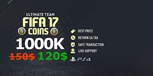 FIFA 17 - FUT - ULTIMATE TEAM - PS4 - 1000K Coins / Münzen / Pièces / Monete (Fut Coins)