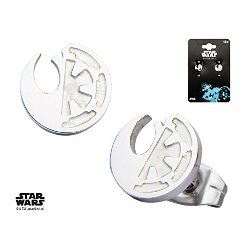 Rogue One Split Symbols Stud Earrings