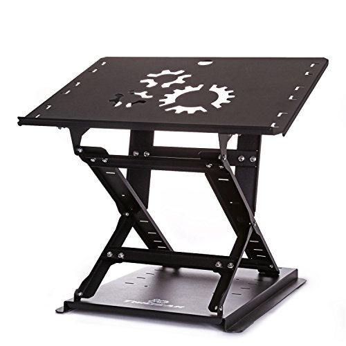 TriGear Premier 81 Adjustable Height & Angle Options Laptop Desk Stand w/ Over 100LBS Capacity - Black