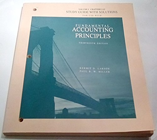 Fundamental Accounting Principles. 13th Edition. F.A.S.T. Edition.