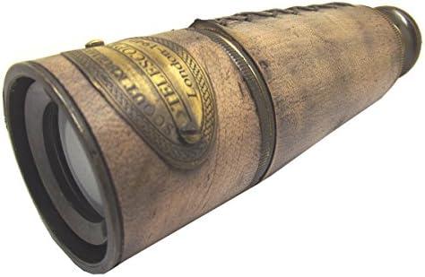 Scouts Brass // Wood Spyglass 7 Brass Telescope Hand Telescope Toy Teles