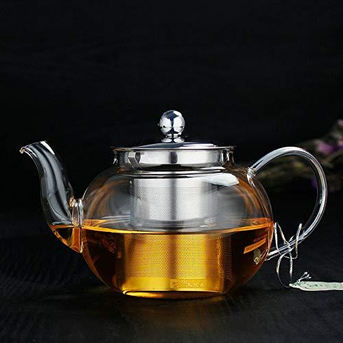 Teiera In Vetro Teiere Brocche Teiera Di Vetro Spessa Resistente Al Calore In Acciaio Inox Filtro Liner Famiglia Teiera Fiore Teiera Tè Nero Tea Set Da Tè 450 Ml Prezzi