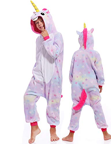 Kids Onesies Unicorn Pajamas Halloween Costume One Piece Cosplay for Girls Boys