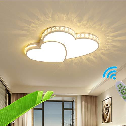 LED Lámpara de techo de salón en Forma de Corazón Regulable Cuarto de los Niños Luz de Techo Plafón de Dormitorio de…