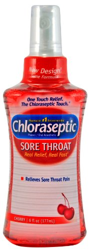 Chloraseptic Sore Throat Spray, Cherry, 6-Ounce (177 ml) (Pack of 3)