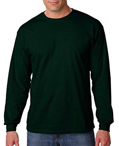 Gildan Mens 5.3 oz. Heavy Cotton Long-Sleeve T-Shirt (G540) -FOREST GRE -L - Others T-shirt Grey Ash
