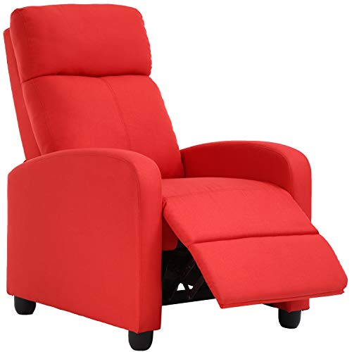 Recliner Chair for Living Room Recliner Sofa Winback Chair Reading Chair Single Sofa Home Theater Seating Modern Reclining Easy Chair with Fabric Padded Seat Backrest