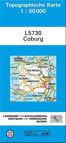TK50 L5730 Coburg  Topographische Karte 1 50000  TK50 Topographische Karte 1 50000 Bayern