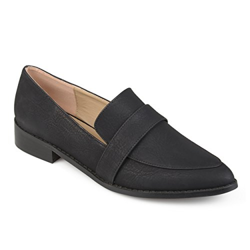 Journee Collection Womens Classic Almond Toe Loafers Black Ywo1b