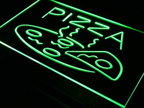 ADVPRO Cartel Luminoso i004-g Open Hot Pizza Cafe Restaurant ...