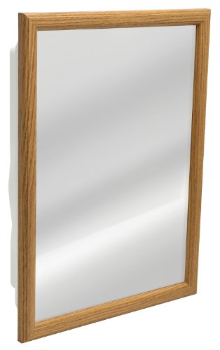 Zenith K268 Oak Framed Medicine Cabinet, 14.5'' x 21.75'' x 4.5'' by Heath/Zenith