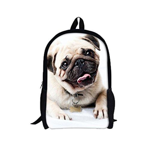 3D Shar Pei perro mochila, mochila bolsas de hombro por Morwind B