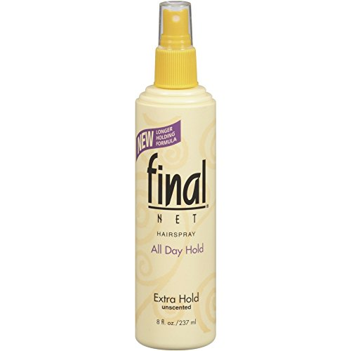 Final Net Hairspray All Day Hold Extra Hold Unscented 8 oz (Pack of 10) ()