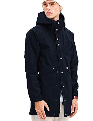 Mens Travel Rain Jacket Navy Rain Slicker Long Urban Outfitters Raincoat Nblue M