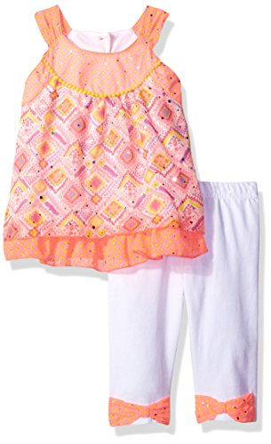Little Lass Baby Toddler Girls' 2 Pc Skimmer Set Halter, Pink, 2T Dot Skimmer