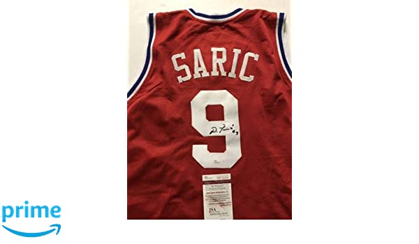 56f7c061a07 Autographed Signed Dario Saric Philadelphia Red Basketball Jersey JSA COA at  Amazon s Sports Collectibles Store