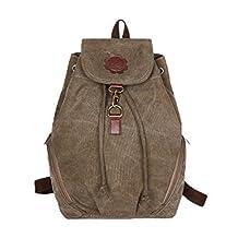 FTSUCQ Womens Canvas Bucket Backpack Travel Daypack Handbags School Bags Shoulder Satchels