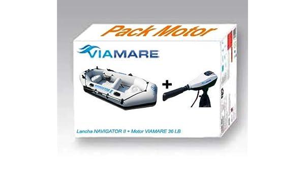 Viamare Lancha, Barca Hinchable, neumatica con Motor Electrico