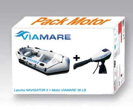 Viamare Lancha, Barca Hinchable, neumatica con Motor Electrico ...