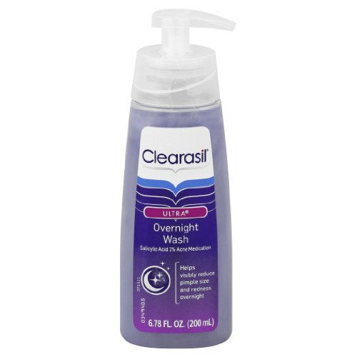 Clearasil Ultra Rapid Action Acne Treatment Overnight Face Wash, 6.78 Ounce