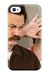 Hot Design Premium HUbokZc8490AAZVd Tpu Case Cover Iphone 4/4s Protection Case(parks And Recreation)