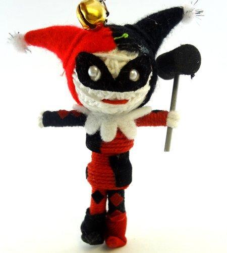 Harley Quinn Voodoo String Doll Key Chain Handmade Batman Psychiatrist