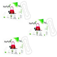 Nurture 100% Natural Cotton Cover, Chemical Free Pantyliners 20s (Combo Pack of 3)