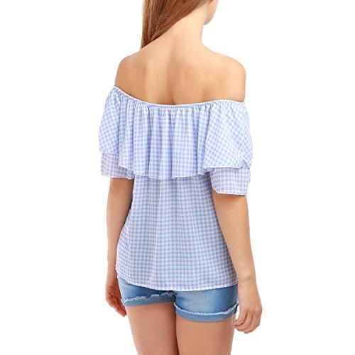 La Modeuse - Camiseta sin mangas - para mujer azul claro