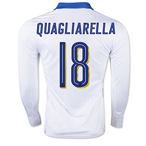 Price comparison product image White 18 Quagliarella Away Match Long Sleeve Soccer Adult Jersey EURO 2016