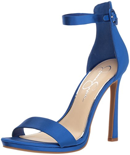 Jessica Simpson Women's Plemy Heeled Sandal, Blue Iris, 8.5 Medium US (Blue Sandal Womens Simpson Jessica)