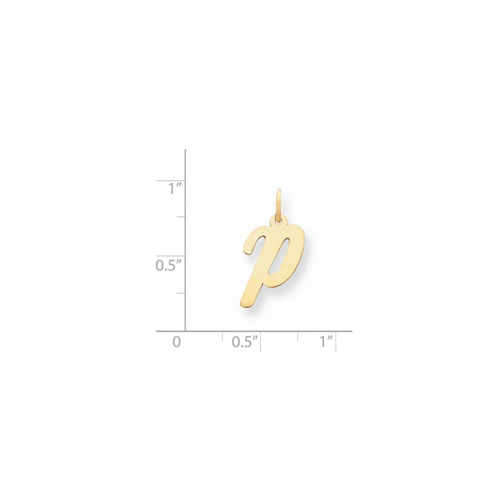 Mia Diamonds 14k Yellow Gold Medium Script InitialP Charm