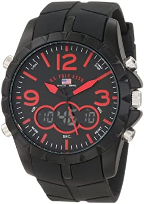 U.S. Polo Assn. Sport Men's US9236 Black Analog Digital Strap Watch