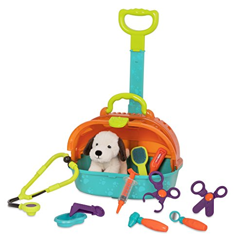 Battat - Pup & Go Vet Carrier - Rolling Pet Carrier with Plush Dog for Children Aged 3+ ()