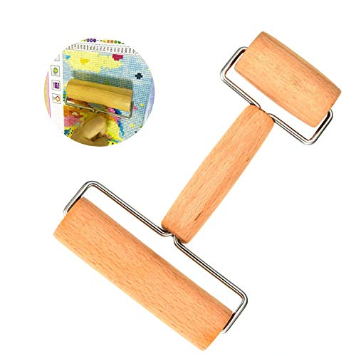 BAKYDD 5D Diamond Painting Tool Wooden Roller Apply to Diamond Painting Rhinestone Embroidery Dots Cross Stitch by Number Kit ()