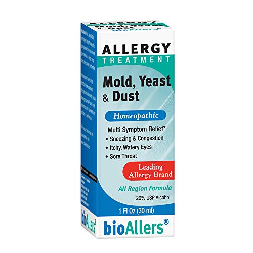 bioAllers Mold, Yeast and Dust | Natural Homeopathic Allergy Relief for Sneezing, Congestion, Itchy Eyes & Sore Throat | Non-Drowsy | 1 Fl. Oz.