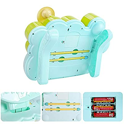 MzekiR Toy Musical Instruments for Toddlers - 3 in 1 Kids Piano Keyboard Xylophone Drum Set: Toys & Games