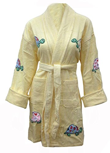 1c946ee8cf Aegean Apparel Yurtle the Turtle Appliqued Cotton Bathrobe